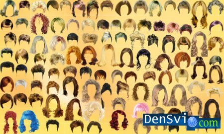PSD исходник – Причёски - Hairdresses