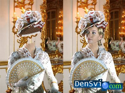 Template for a photomontage - Beautiful Lady