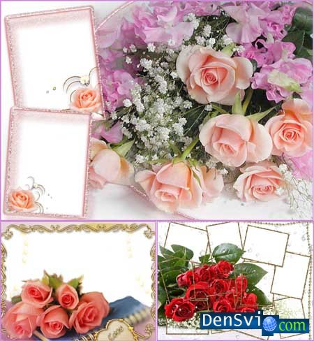 Nice Photoframes with Roses
