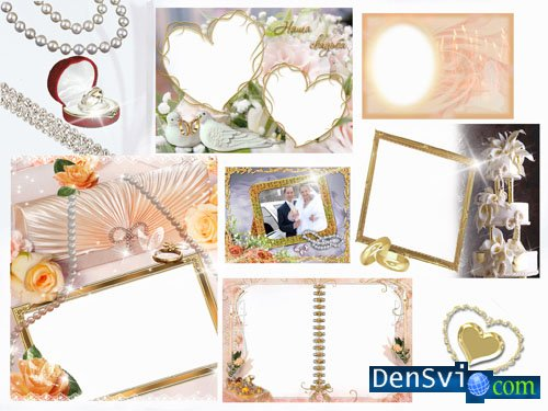 Wedding Photoframes - Wedding in Gold