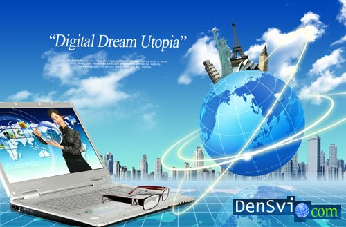 PSD template - Digital Dream - 3