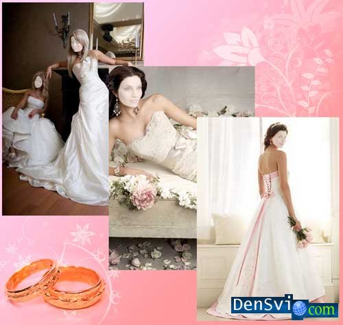 Templates for a photomontage - Brides