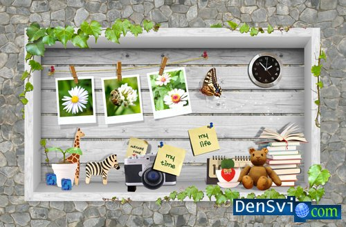 PSD Template -  Nature Photoframe
