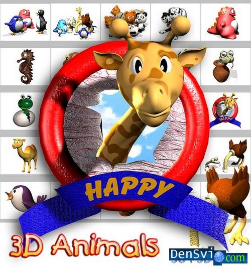 PSD templates - 3D Animals