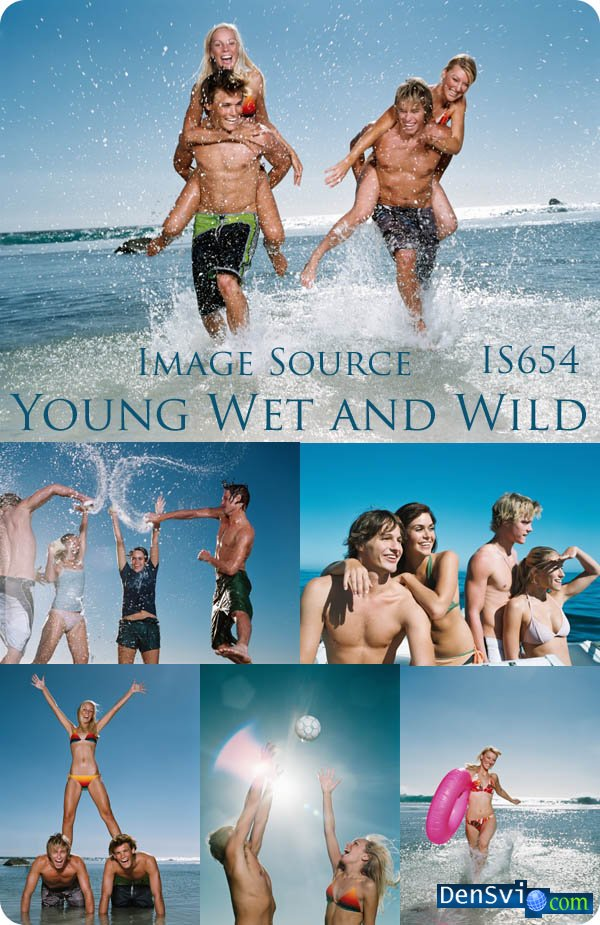 Raster Clipart - Young,  Wet and Wild