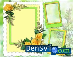 Photoframe - yellow roses
