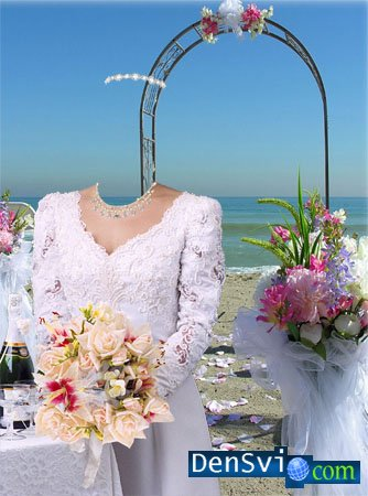Template for a photomontage - Bride -2