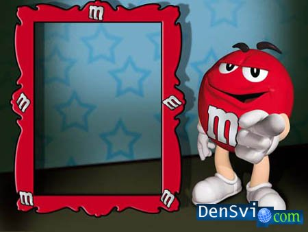 Photoframe -  M&M's RED