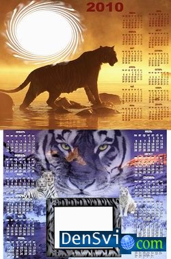 Calendars on  2010 with  Tigers