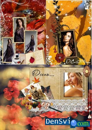 Photoframes for Photoshop - Autumn