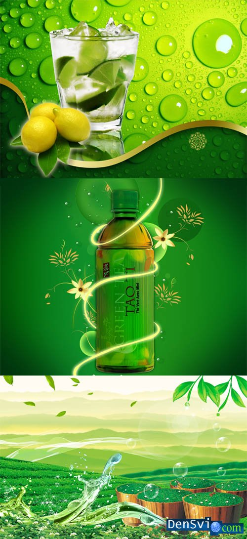 PSD templates - Green drinks