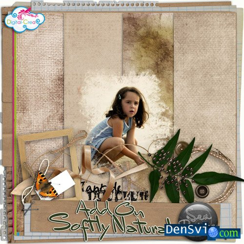Скрап набор - Add On Softly Natural