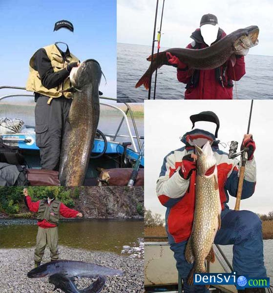 шаблоны фотошопа рыбаки