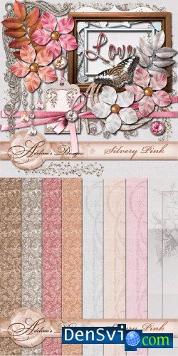 Скрап-набор - Adelina Design - Silvery Pink