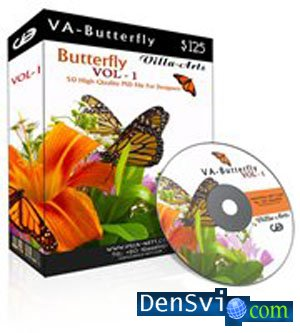 PSD исходники - Villa-Arts Butterfly Vol.1