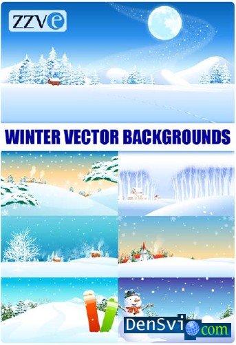 Векторные зимние фоны