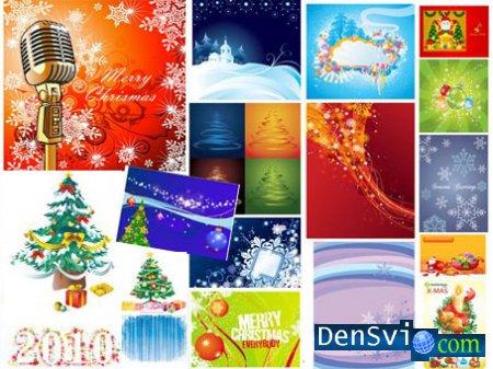 Рождество и новый год в векторе