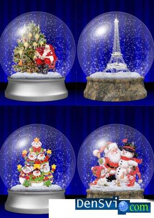 Psd исходники стеклянные шары со