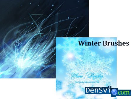 Зимние кисти для Photoshop Winter Brushes