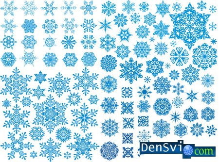 �������� � ������� - Snowflakes in Vector