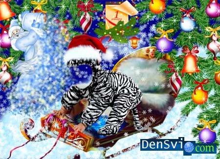 Новогодний детский костюм тигрёнок