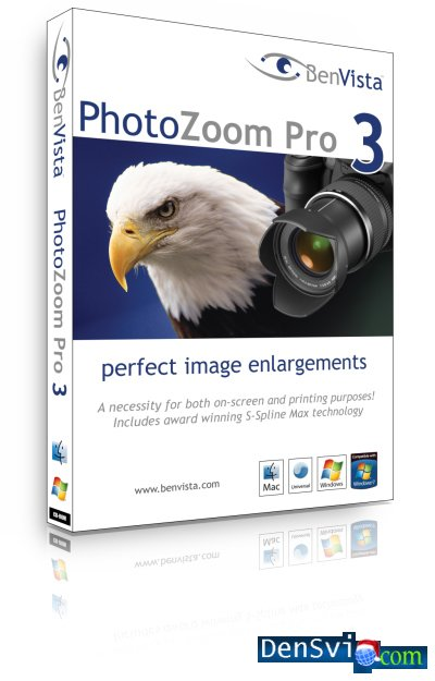 PhotoZoom Pro3 - Революционная технология масштабирования S-Spline, использ