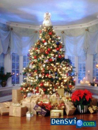 Уроки photoshop новогодние подарки
