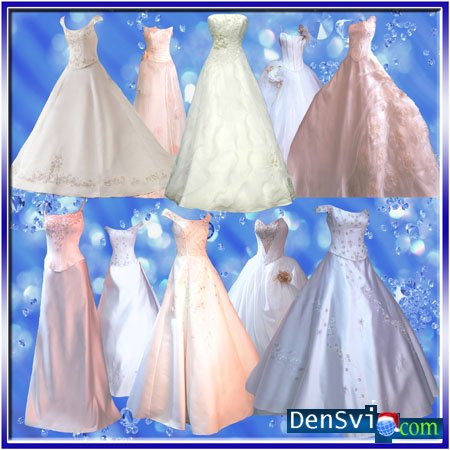 Psd клипарт свадебные платья