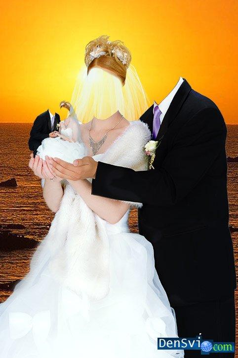 Свадебный шаблон для фотошопа