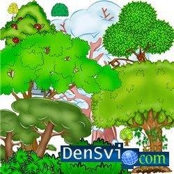 Psd клипарт деревья отрисовки