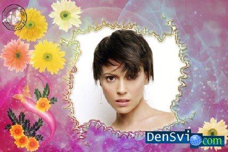 Цветочная рамка для фотошопа к 8 Марта » Всё для Фотошопа ...: http://densvi.com/4366-cvetochnaya-ramka-dlya-fotoshopa-k-8-marta.html