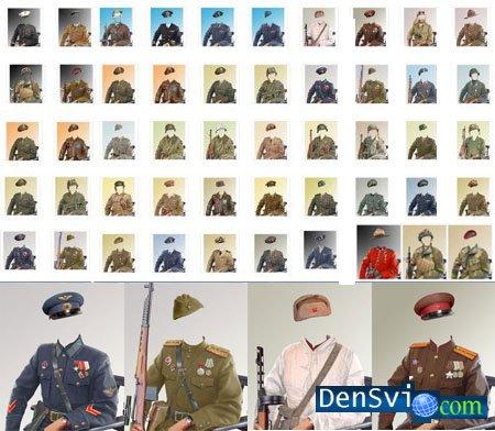 Военные шаблоны для фотошопа