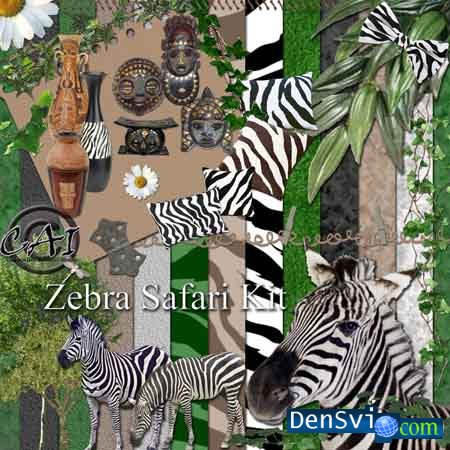 Скрап - набор Zebra Safari