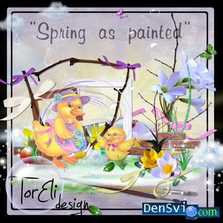 Скрап - набор Spring as painted