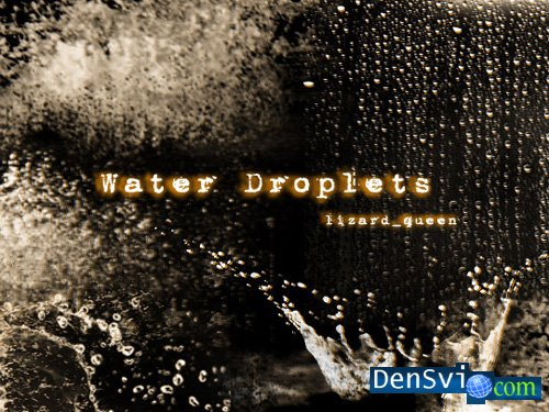 кисти капли воды для фотошопа: