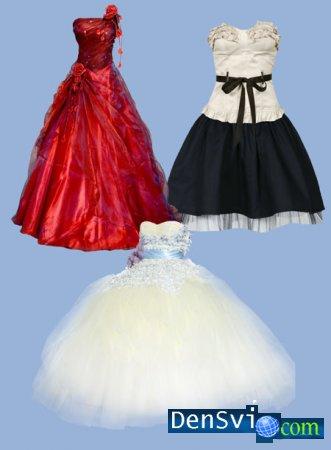 Psd клипарт фотошопа нарядные платья