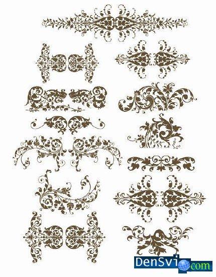 Векторный цветочный орнамент рамки