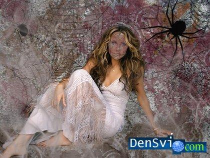 Шаблон для фотошоп в паучьих сетях gt gt