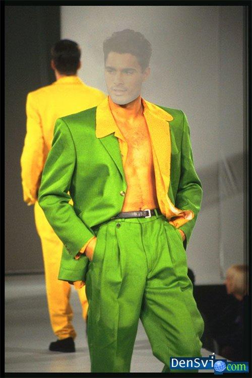 Зеленый мужской костюм фото 7