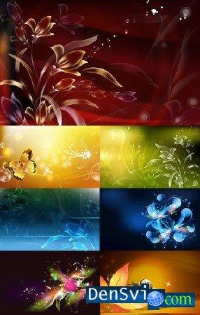 Цветочные фоны для фотошопа floral fantasy