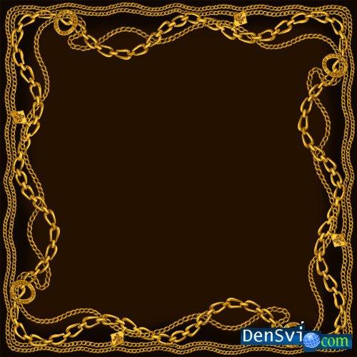 Psd клипарт для фотошопа золотые цепи
