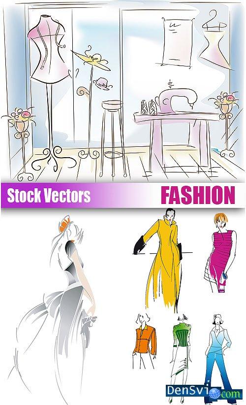 векторный клипарт мода:
