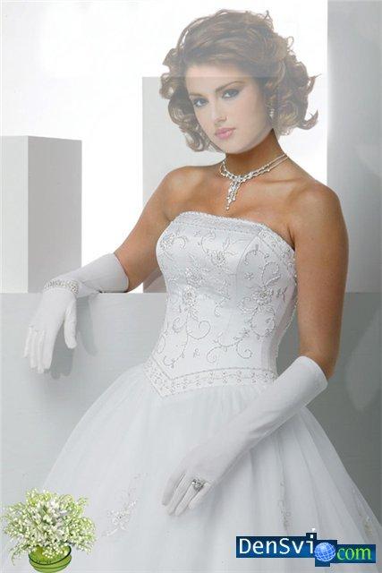 Роскошный костюм невесты для фотошопа