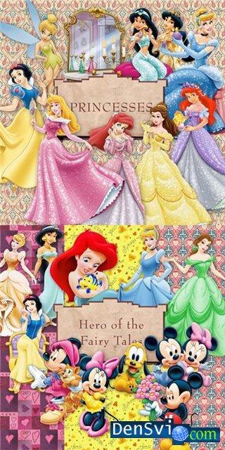 Герои диснея мики с мини и принцессы