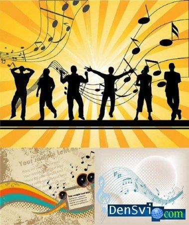 Музыкальный векторный клипарт