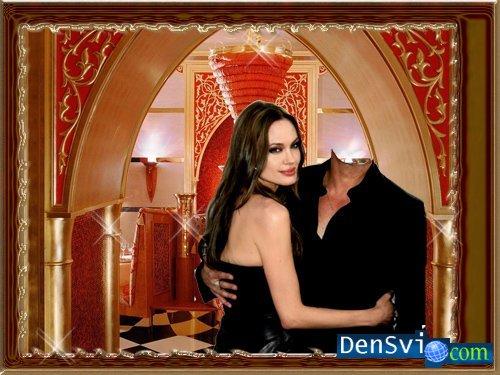 Фотомонтаж со знаменитостью - Анджелина и Ты.
