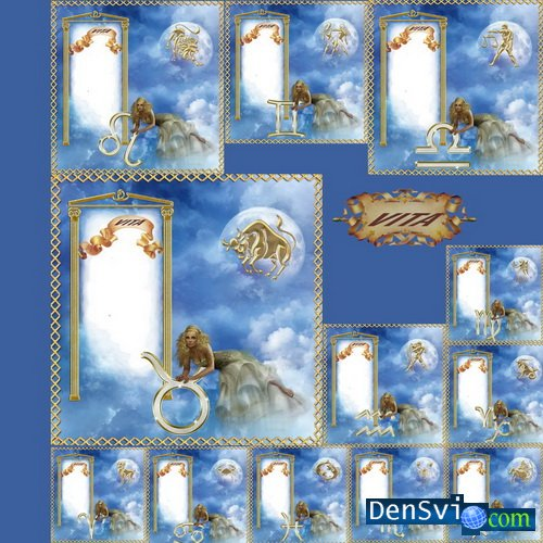 рамки со знаком зодиака для фотошопа