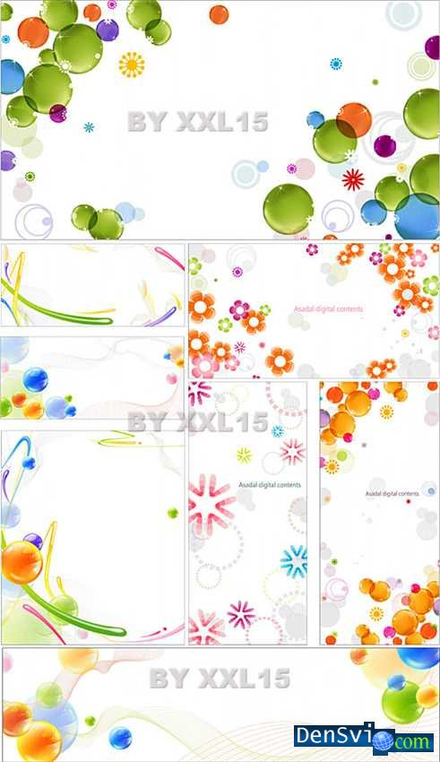 Векторные фоны красочная абстракция