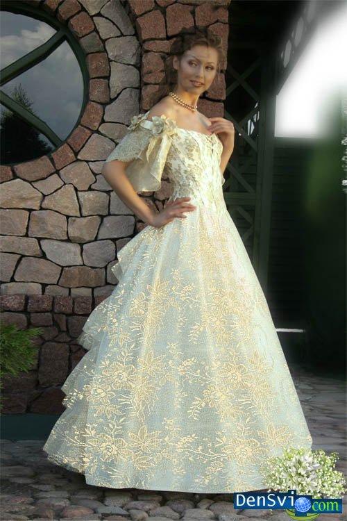 Фотошаблон очаровательная невеста