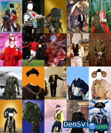 Шаблоны костюмы для фотошопа мужские